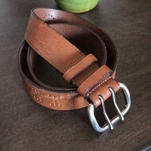 IZOD Laser cut leather belt